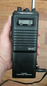Realistic TRC-221 Handheld 40 Channel CB Walkie Talkie - TESTED