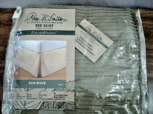 Park B Smith Bed Skirt 100% Cotton CA King Size Eco-River Vegetable Dyed EPS177