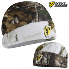 Scent Blocker Reversible Realtree Sherpa Snow Camo Hunting Hat Cap Beanie - NEW!