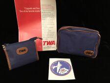 Vintage Twa Airlines Unused Shoe Care Kit, Vanity Kit, Luggage Label • Evc