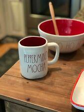 Magenta Rae Dunn Christmas Winter LL Red Lined Peppermint Mocha Mug New!