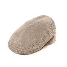 Summer Flat Mesh Vented Flat Visor Golf Ivy Driver Cabby Cap Hat Lt Gray 60cm XL