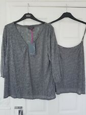 MARKS & SPENCER PER UNA  WOMENS 2 PART CAMISOLE & TOP SET SIZE 18 BNWT