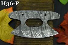 Custom Hand Forged Damascus Steel Ulu Blank Blade Hunting Knife Handmade (H36-P)