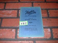 GENUINE AUSTIN TWENTY 20 ILLUSTRATED SPARE PARTS BOOK.1930.