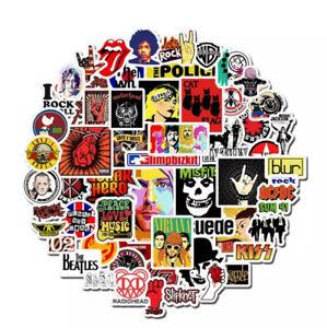 MUSIC STICKERS 52 BANDS ROCK PUNK POP SKA METAL HIP HOP JOB LOT BUNDLE