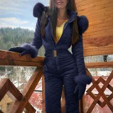 Women Winter Jumpsuit Waterproof Ski Snow Suit Outdoor One Piece Sport Overall