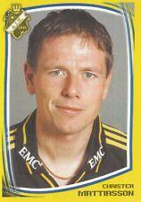 018 CHRISTER MATTIASSON # SWEDEN AIK STICKER FOTBOLL ALLSVENSKAN 2000
