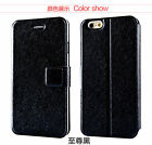 Wallet Silk Leather Stand Flip Holder case cover for iPhone 5S 6 Plus Samsung S6