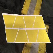 REFLECTIVE FIRE HELMET TETS 8 PACK TETRAHEDRONS FIRE HELMET STICKERS --YELLOW