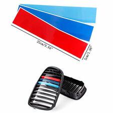 3pc For BMW Grill M Sport Tech 3 Color Stripes Sticker Vinyl Decal Badge Emblem