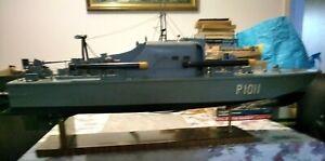 3 foot Brave Borderer MTB model boat Wireless Remote Control, 2 shafts 2 rudders