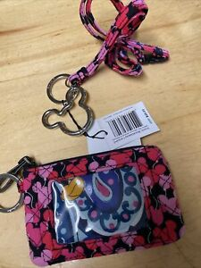 VERA BRADLEY DISNEY PARK MICKEY MOUSE WHIMSICAL PAISLEY LANYARD & COIN PURSE