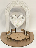 Loved Ones in Heaven Wedding Memory Table 3D Centrepiece w/ Personalised Chairs