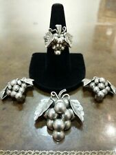 """Ring Earrings Nice Patina """"Hard To Find"""" Vintage 925 """"Aaron Plata"""" Taxco Set Pin"""