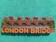 London Bridge Wooden Fridge Magnet Travel Souvenir Tourist Vintage 4 Inches