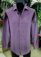 Giorgio Armani Black Label Shirt S 15.75-33 Stunning Purple