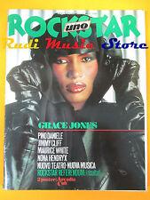 rivista ROCKSTAR 66/1986 POSTER Arcadia Grace Jones Pino Daniele Jimmy Clif Nocd