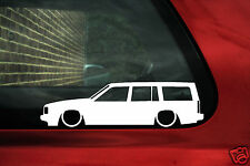 2x LOW Volvo 740 estate / Wagon outline,silhouette stickers. for 740, Turbo,SE