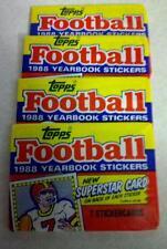 Original Topps Football 1988 Yearbook Stickers 4 wax packs Joe Montana, 4 Left