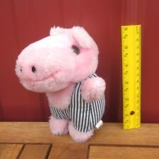 PINK HIPPO plush doll in Train Conductor toy 1990 hippopotamus Impressment Plus