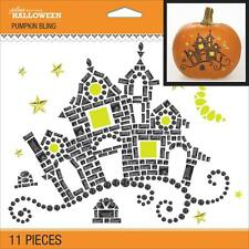 Crafts Pumpkin Bling Gems Decorate Pumpkin or Anything Haunted House Black Gold
