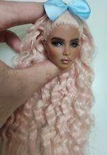 Fashion OOAK Black Ayumi Doll Head FR Royalty Perfect