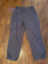 Mens Size Medium Columbia Nylon Net Lined Gray Pants Adjustable Waist Read