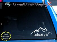 Colorado Girl Mountains Style #2 Vinyl Decal Sticker / Color - HIGH QUALITY