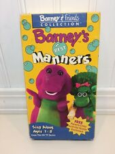 Barney & Friends Collection Barney's Best Manners~EDUCATIONAL VHS VIDEO BABY BOP