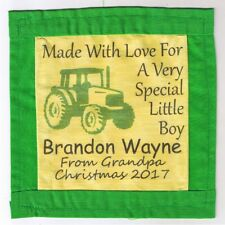 Custom Personalized Printed Fabric Quilt Label Sew On Gift Tag Optional Border