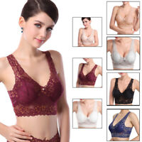 Women Extra Elastic Air Permeable Full Lace Bra Light Padded Seamless Underwear