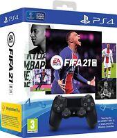 FIFA 21 & BLACK DUALSHOCK 4 WIRELESS CONTROLLER BUNDLE - PS4 - BRAND NEW