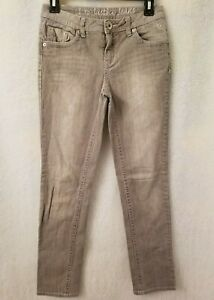 Justice Girls Gray Simply Low Jeans Pants Size 14R