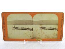 Vintage Stereoview Stereoscope Card William B Holmes NY Steamer Boat Ship Docked