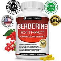 Berberine HCl 1200 MG Premium 90 CAPSULES- (Non-GMO, Gluten Free Vegetarian)