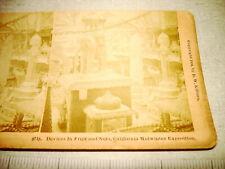 1894 Davis Kilburn Stereoview Card CALIFORNIA MIDWINTER EXPOSITION Fruits NR