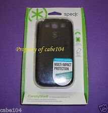 Speck For Samsung Galaxy S3 ~ CandyShell ~ BLACK/GRAY ~ Genuine ~ NEW/SEALED