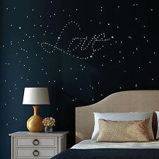 Leuchtaufkleber Fluoreszierend Punkte Sterne 210 Stück Sternenhimmel glow in the