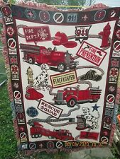 Goodwin Weavers Fire and Rescue Throw Blanket EUC!!!