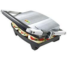 Breville VST025 3 Slice Sandwich Press Heats Paninis Ciabatta Stainless Steel_UK
