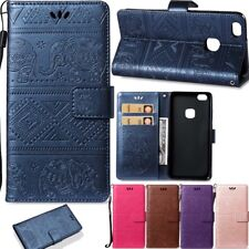 Elephant Stand Leather Card Wallet Magnetic Case Cover For Various Phone Model