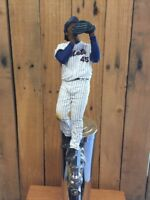 New York Mets TAP HANDLE Baseball Pitcher Beer NY Pedro Martinez White Jersey