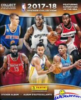 2017/18 Panini Basketball HUGE 72 Page Stickers Collectors Album-10 Stickers!