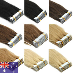 Premium Tape in Hair Extensions Seamless Invisible Skin Weft On Remy Human Hair