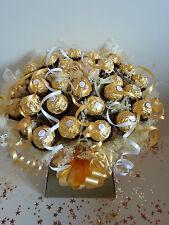 Ferrero Rocher Luxury Chocolate Bouquet Gold Sweet Tree Hamper - Perfect Gift