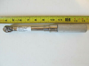 """Aircraft tools Snap On 1/4"""" drive ratcheting torque wrench # QD1R200 40-200"""" lbs"""