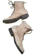Born Kelisa taupe Suede Lace Up Combat Boots Women size 9