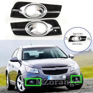 Left Right Front Fog Light Lamp Cover Bezel Chrome for Holden Cruze JH 2009-2014