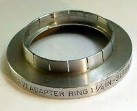 """Kodak series 6 VI Filter Adapter  1  1/4"""" 31.5mm slip on to 44.5mm threaded"""